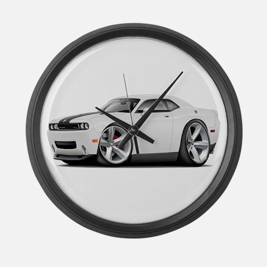 Challenger SRT8 White Car Large Wall Clock