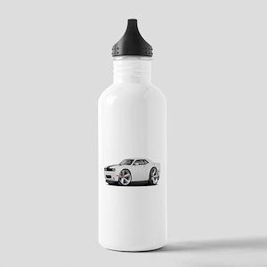Challenger SRT8 White Car Stainless Water Bottle 1