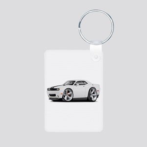 Challenger SRT8 White Car Aluminum Photo Keychain