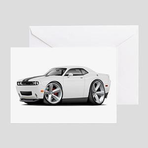 Challenger SRT8 White Car Greeting Card