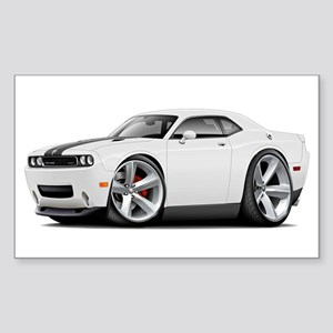 Challenger SRT8 White Car Sticker (Rectangle)