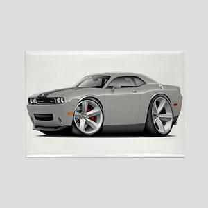 Challenger SRT8 Silver Car Rectangle Magnet
