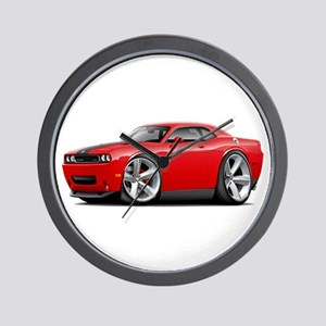 Challenger SRT8 Red Car Wall Clock