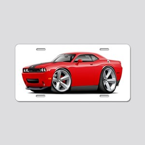 Challenger SRT8 Red Car Aluminum License Plate