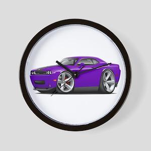 Challenger SRT8 Purple Car Wall Clock