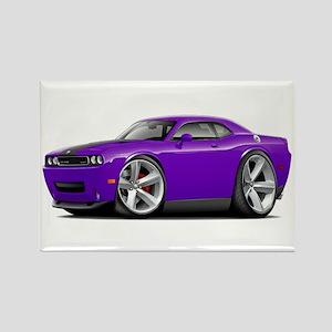 Challenger SRT8 Purple Car Rectangle Magnet