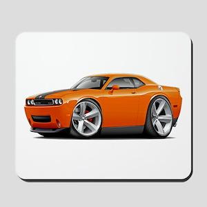 Challenger SRT8 Orange Car Mousepad