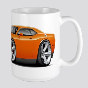 Challenger SRT8 Orange Car Large Mug