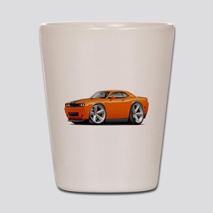 Challenger SRT8 Orange Car Shot Glass