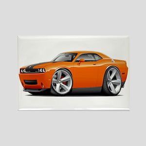 Challenger SRT8 Orange Car Rectangle Magnet