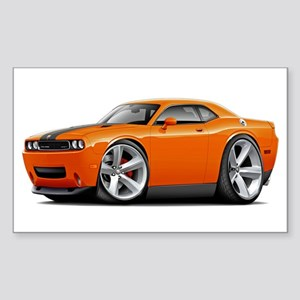 Challenger SRT8 Orange Car Sticker (Rectangle)