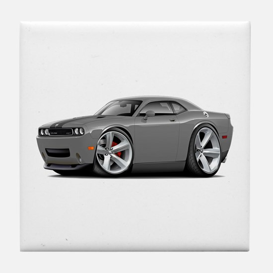 Challenger SRT8 Grey Car Tile Coaster