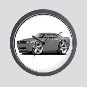 Challenger SRT8 Grey Car Wall Clock