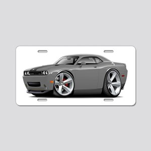 Challenger SRT8 Grey Car Aluminum License Plate