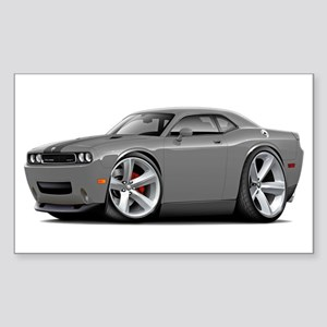 Challenger SRT8 Grey Car Sticker (Rectangle)