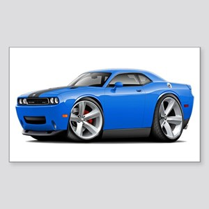 Challenger SRT8 B5 Blue Car Sticker (Rectangle)