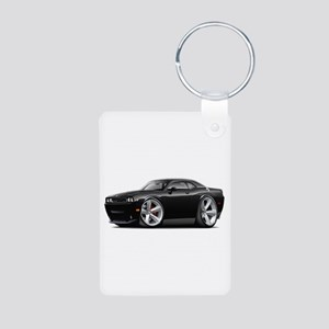 Challenger SRT8 Black Car Aluminum Photo Keychain