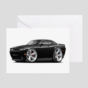 Challenger SRT8 Black Car Greeting Card