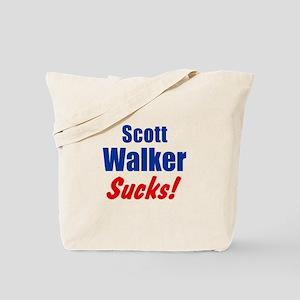 Scott Walker Sucks Tote Bag