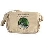 Christmas Peas Messenger Bag