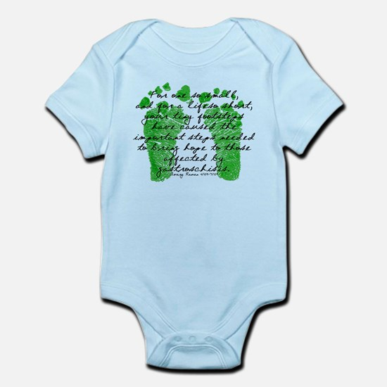 Tiny Footsteps that started i Infant Bodysuit
