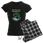 Christmas Peas Women's Dark Pajamas