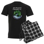 Christmas Peas Men's Dark Pajamas