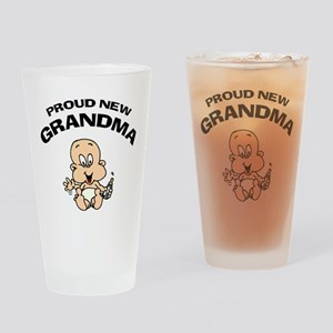 Proud New Grandma Drinking Glass