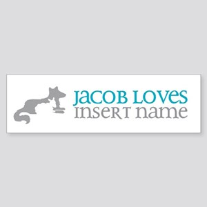 Jacob Loves Sticker (Bumper)