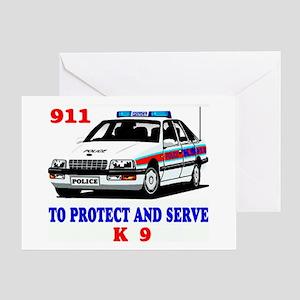 POLICE CAR K9 Greeting Card