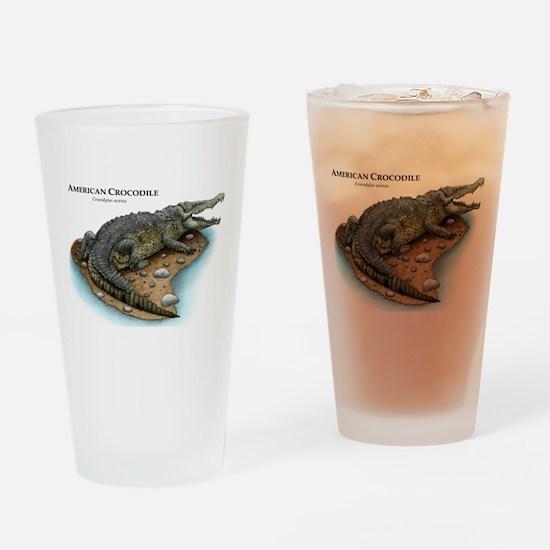 American Crocodile Drinking Glass