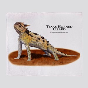 Texas Horned Lizard Throw Blanket