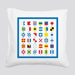 Nautical Flags Square Canvas Pillow