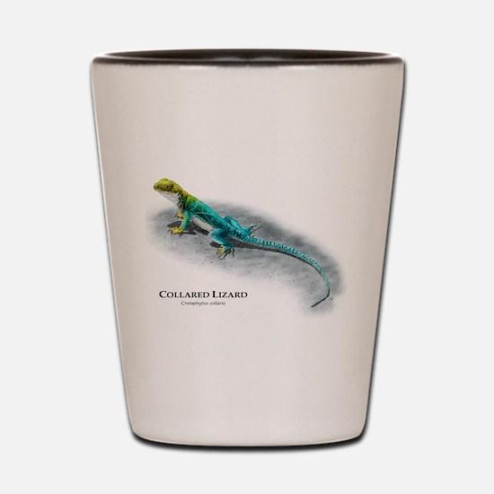 Collared Lizard Shot Glass