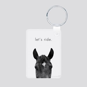 Let's Ride print by Ed Wood Aluminum Photo Keychai