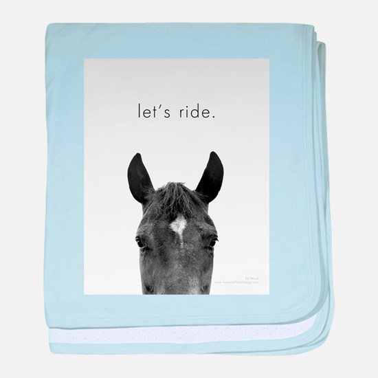 Let's Ride print by Ed Wood baby blanket