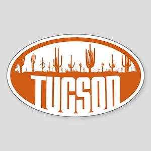 Tucson AZ Flag Sticker (Oval)