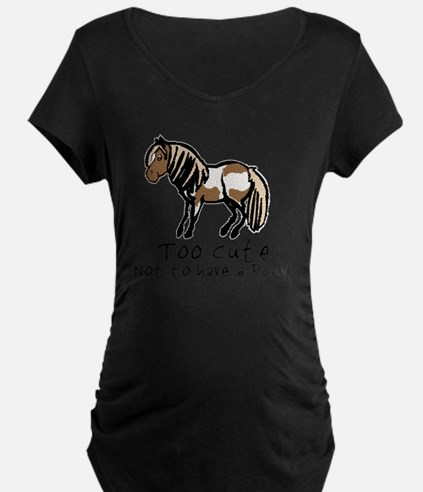 Too Cute Pony Maternity T-Shirt