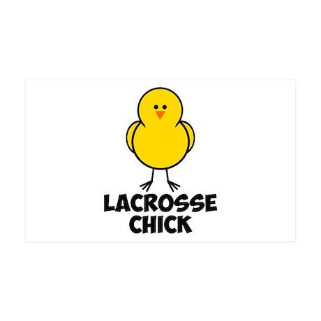 Lacrosse Chick 38.5 x 24.5 Wall Peel