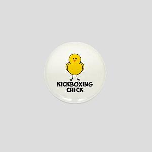 Kickboxing Chick Mini Button