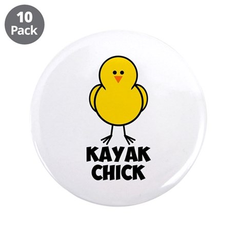 """Kayak Chick 3.5"""" Button (10 pack)"""