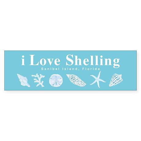 i Love Shelling Sticker (Bumper)