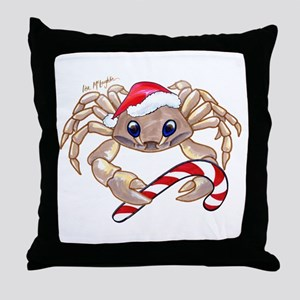 Christmas Ghost Crab Throw Pillow