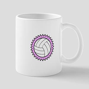 Volleyball on pink Mugs