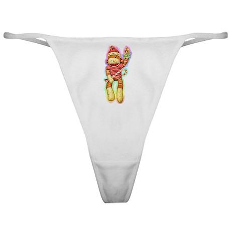 Christmas Sock Monkey Clothin Classic Thong