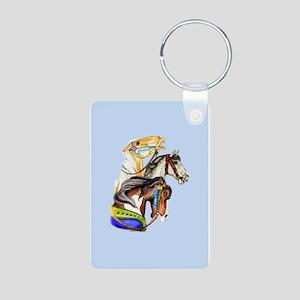 Carousel Horses Aluminum Photo Keychain