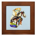 Carousel Horses Framed Tile