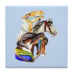 Carousel Horses Tile Coaster