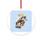 Carousel Horses Ornament (Round)