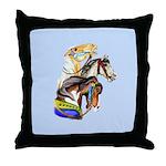 Carousel Horses Throw Pillow